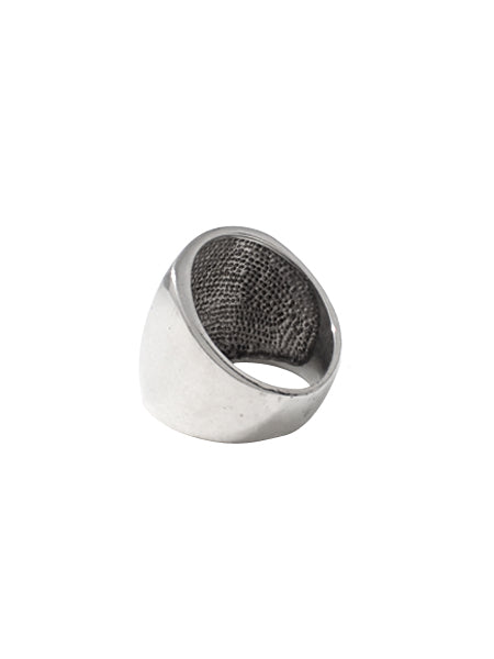 Wide Face Signet Ring / Sterling Silver