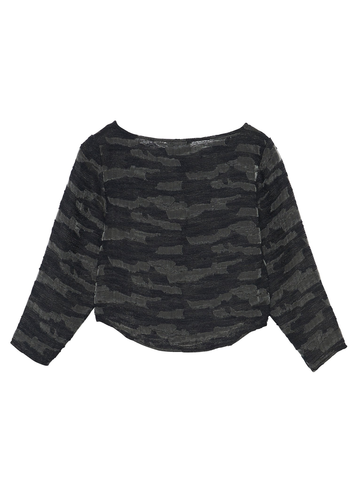 Port Blouse / Black Jacquard