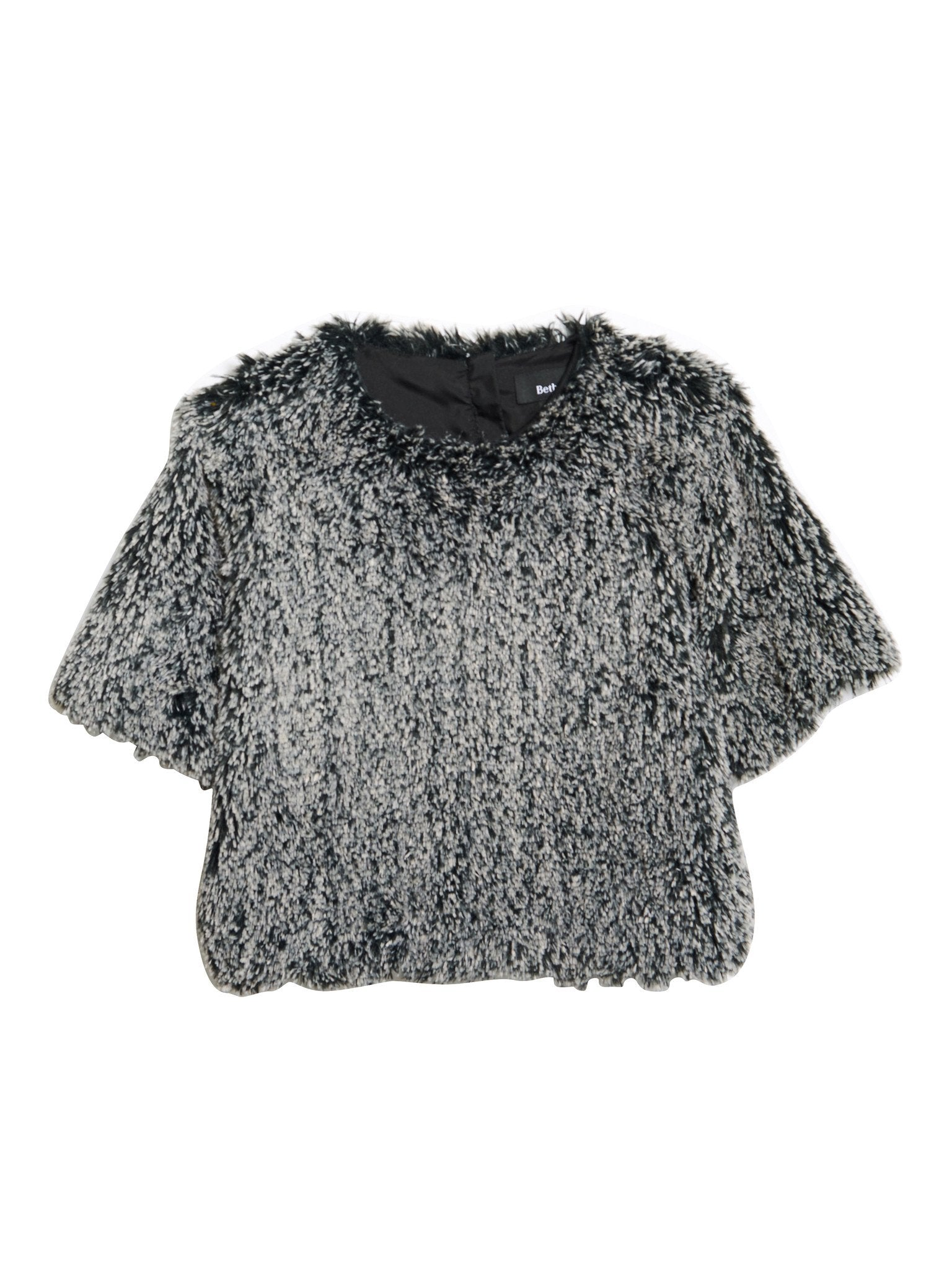 Salon Top / Grey Faux Fur