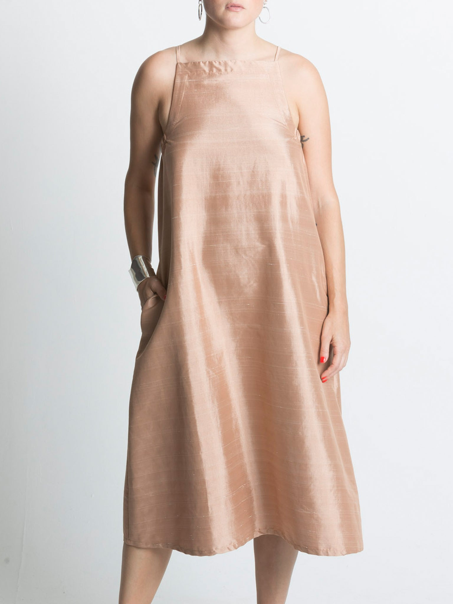 Yard Dress / Terracotta Dupioni