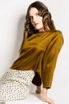 Port Blouse / Gold Silk