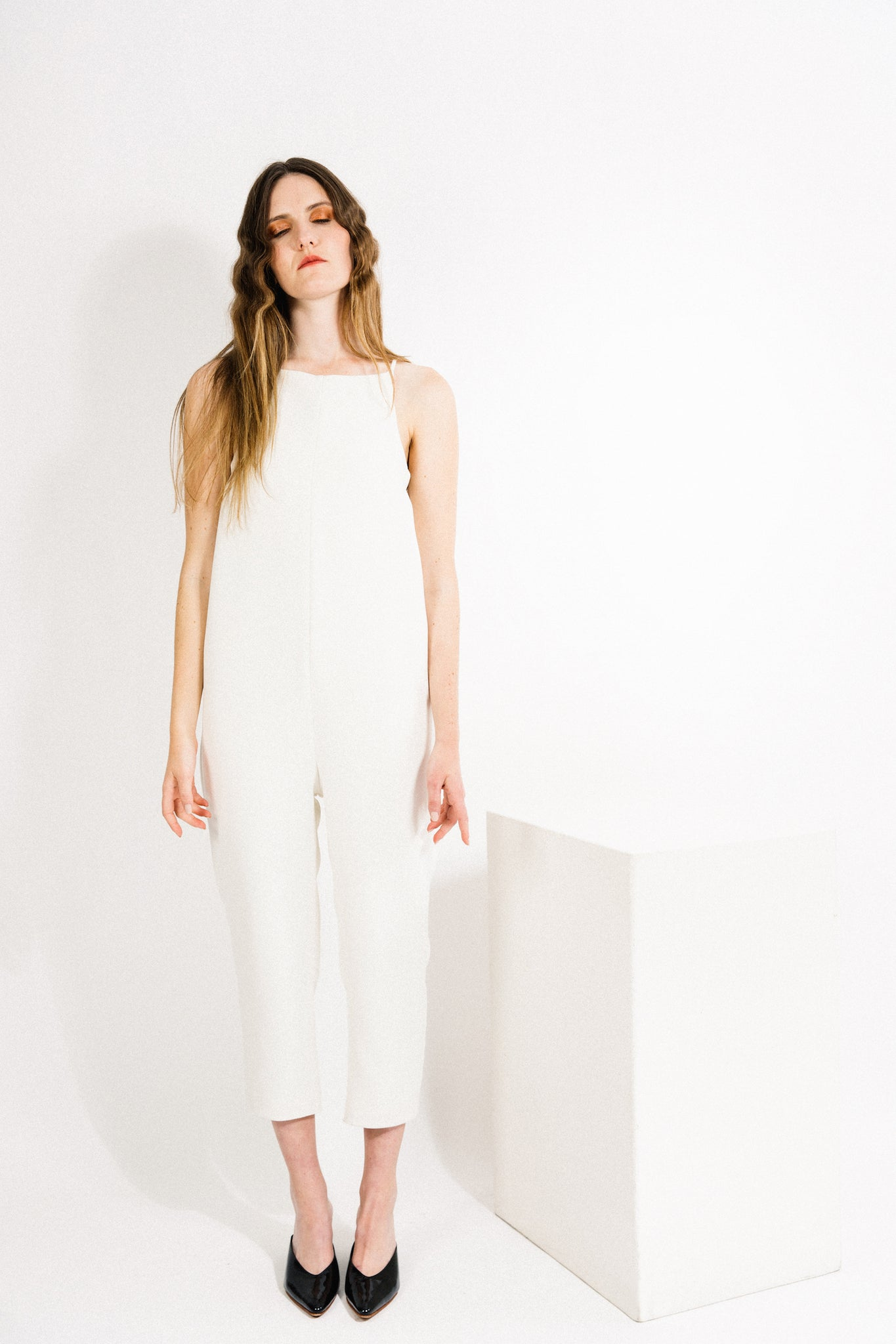 Yard Jumpsuit / White Crepe