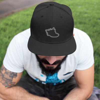 Iconic Black Snapback Hat