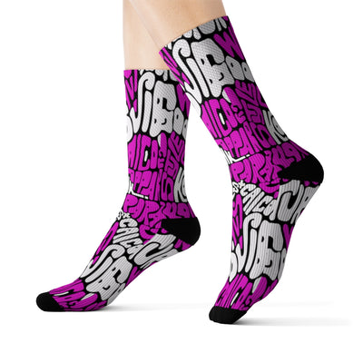 Pink Grafetti Sublimation Socks