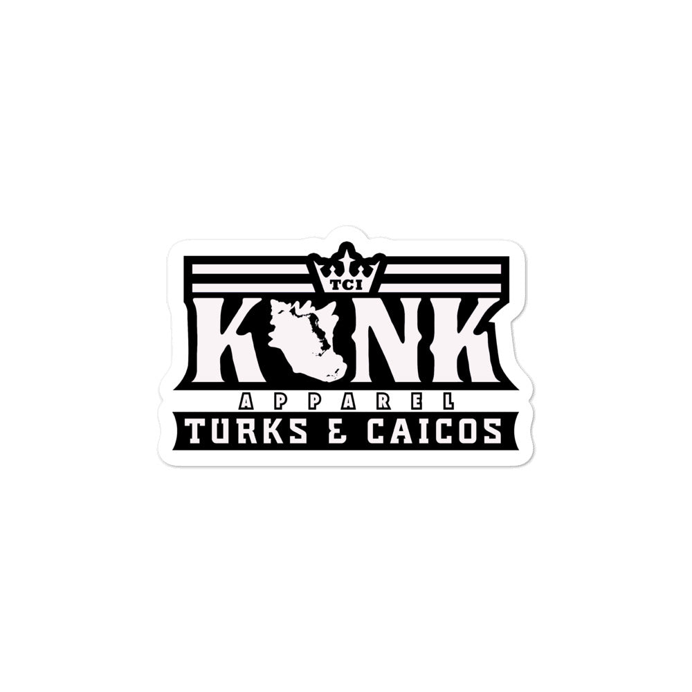 Konk Apparel Stickers (White)
