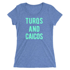 Turqs and Caicos Women's Ladies' short sleeve t-shirt
