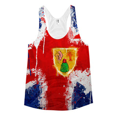 Painted Flag Women's racerback tank