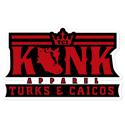 Konk Apparel Stickers (Red)