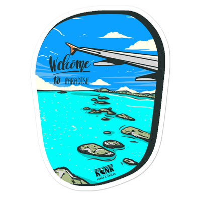 Welcome to Paradise stickers