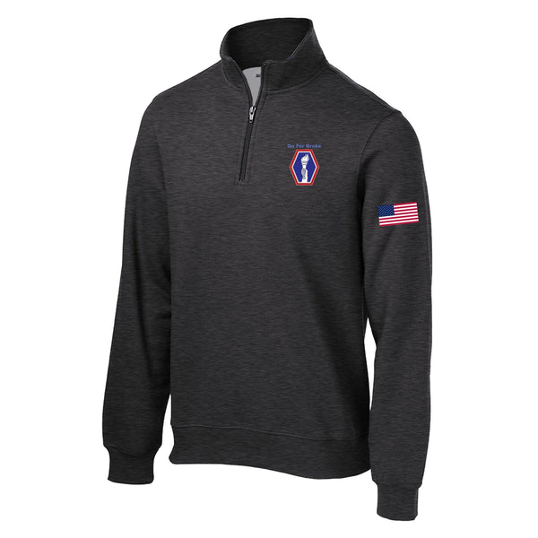 100th BN  1/4 Zip Sweatshirt
