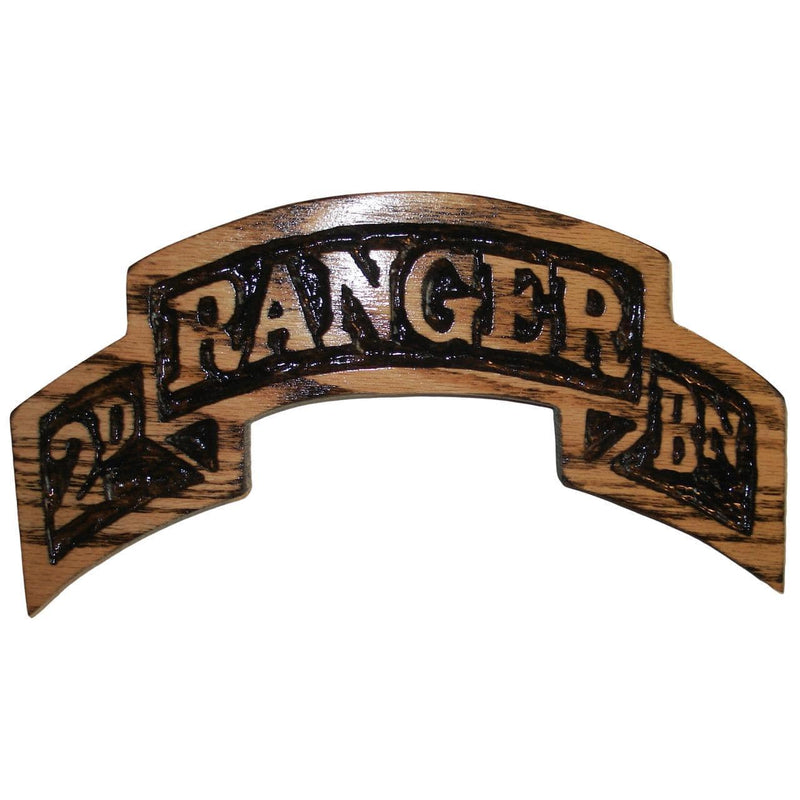 Hand Carved Battalion Ranger Scroll