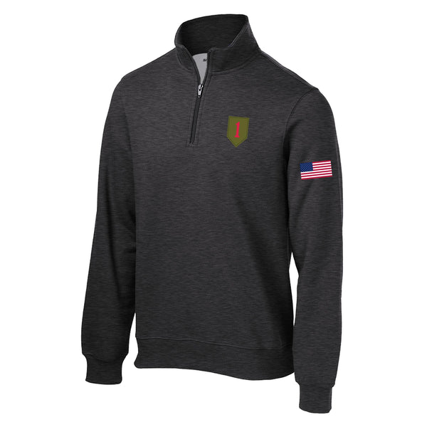 1st Infantry 1/4 Zip sweatshirt