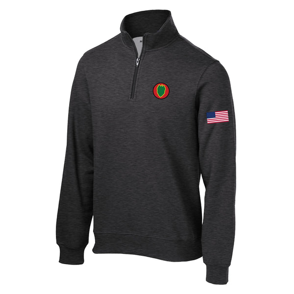 24th Infantry 1/4 Zip Sweatshirt