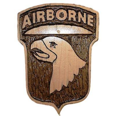 Hand Carved 101st Airborne