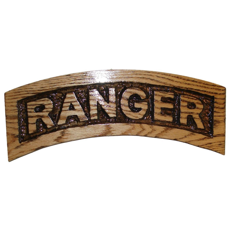 Ranger Tab Wooden Carving