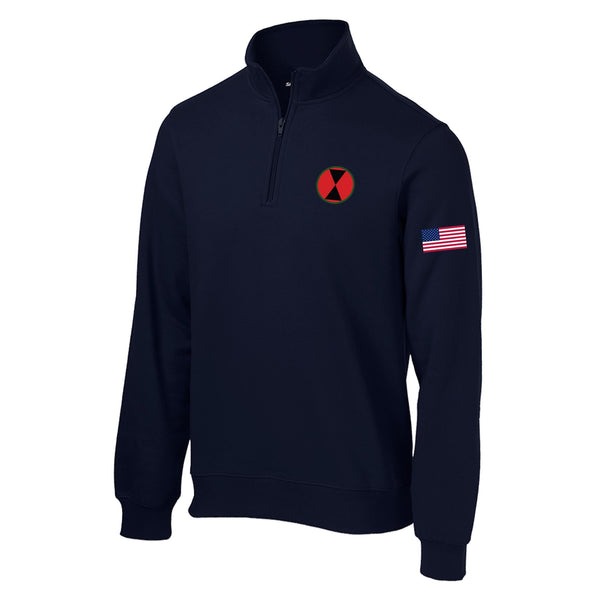 7th Infantry 1/4 Zip Sweatshirt