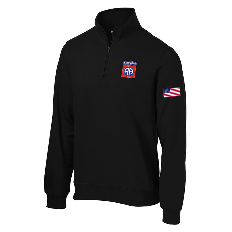 82nd Airborne 1/4 Zip Sweatshirt