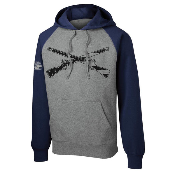 Color Block Crossed Rifles Hoodie