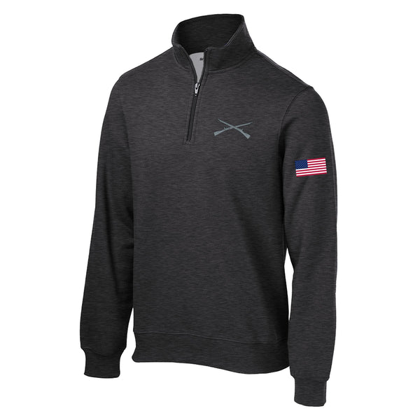 Crossed Rifles 1/4 Zip Sweatshirt