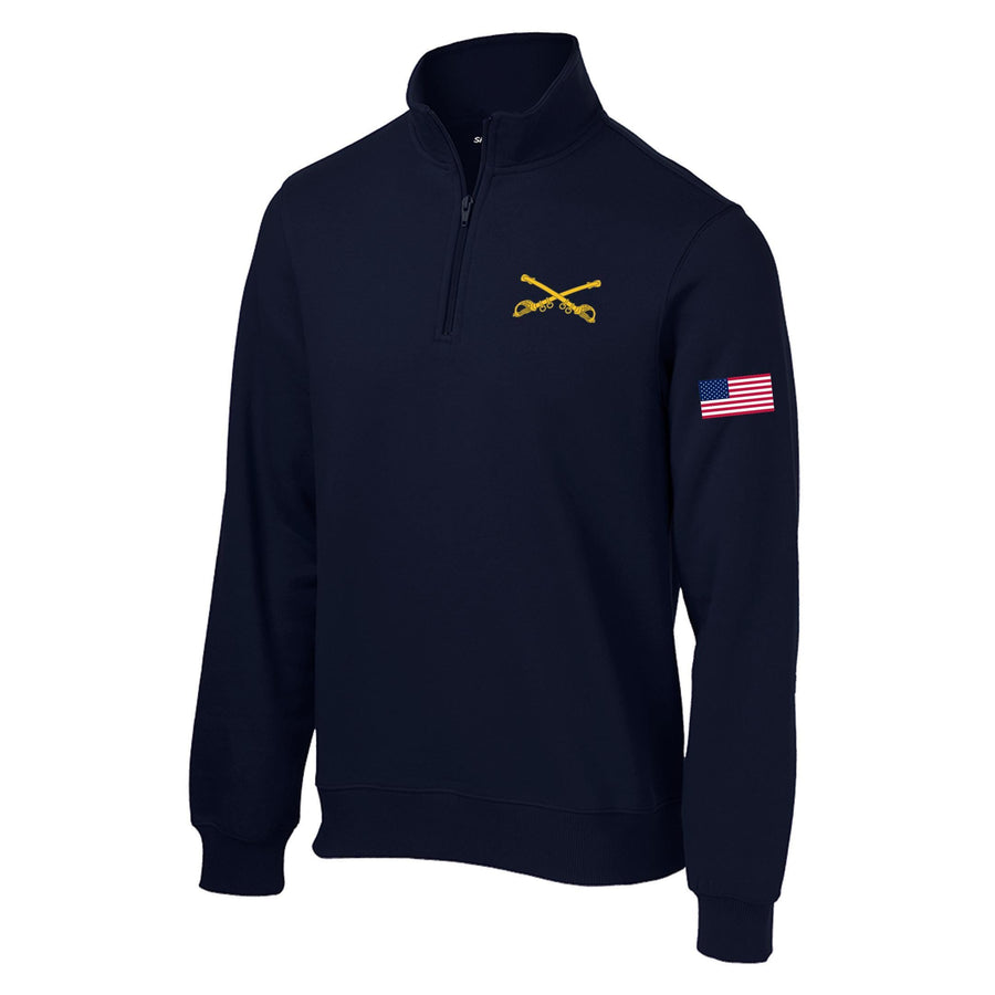 Crossed Sabers 1/4 Zip Sweatshirt
