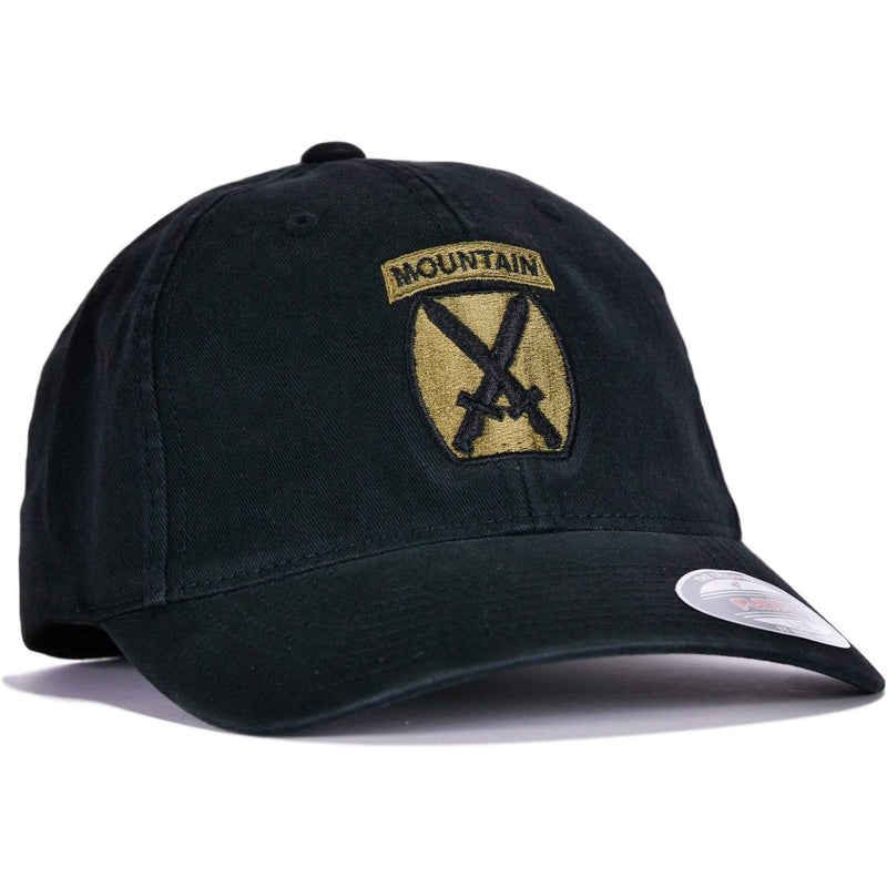 Black 10th Mountain Flexfit® Hat