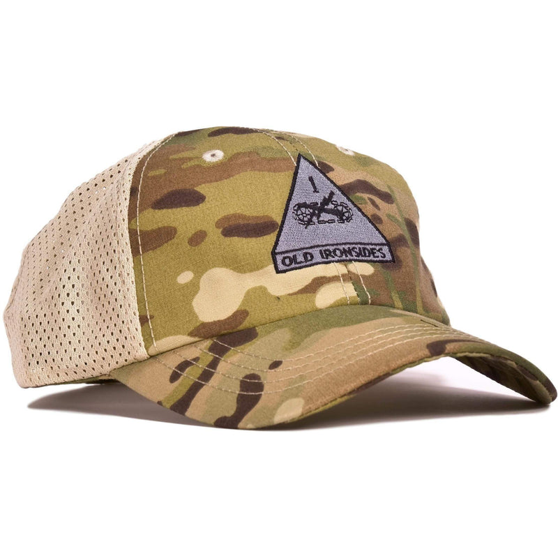 1st Armored Division Multicam Mesh Back Hat