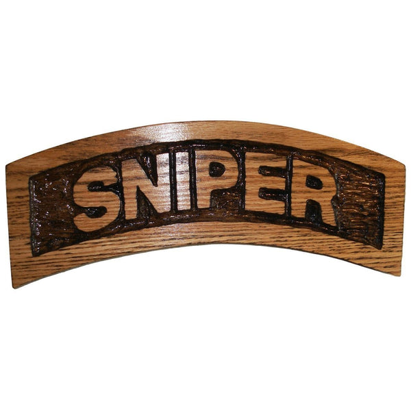 Hand Carved Sniper Tab
