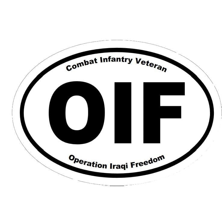 OIF Oval Decal