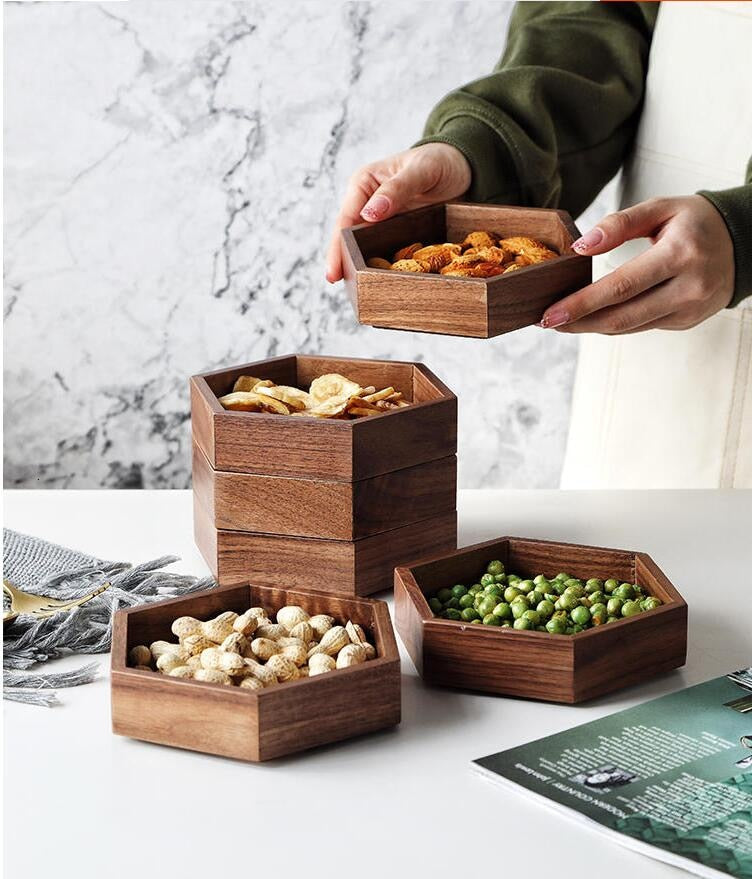Solid Wood Snack Plate