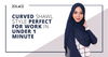 A Curved Shawl Style Perfect for Work in Under 1 Minute - Hijab Friday