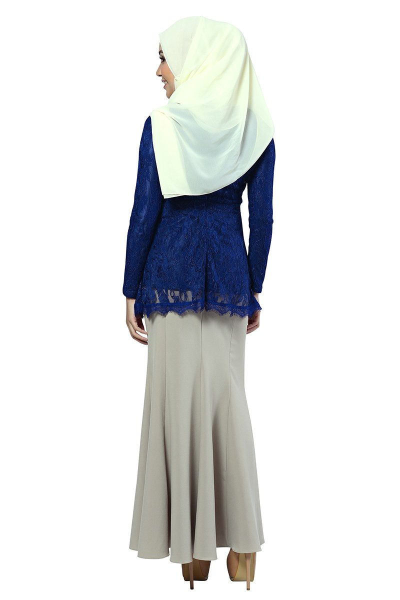 ada2091a0724ab Ethereal Blouse Muslimah in Blue - Free Shipping - Zolace.com
