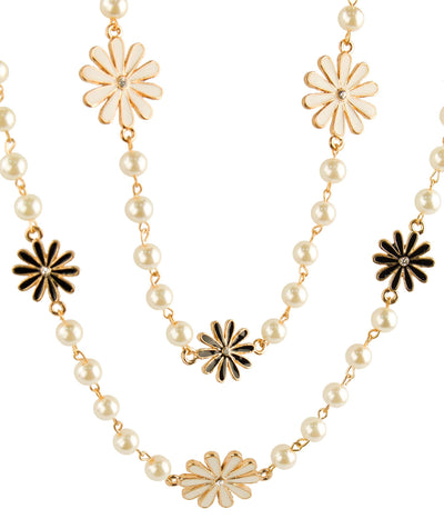 Pearly Jasmine Long Necklace Color:White