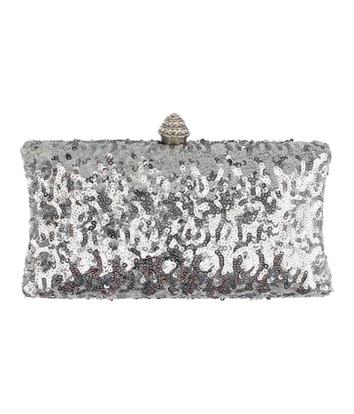 Play the Party Clutch in Silver