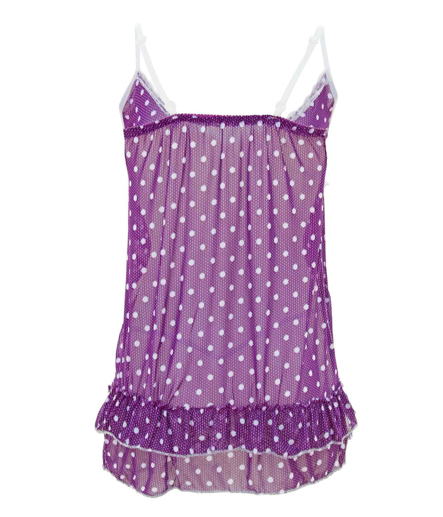 Winter Droplets Chemise and G-String Set Color:Purple Size:Free Size