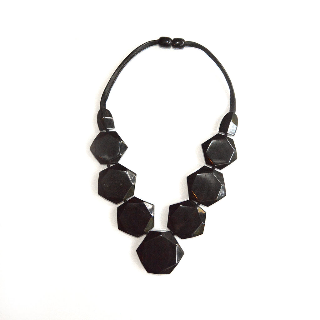 Faceted Horn Necklace