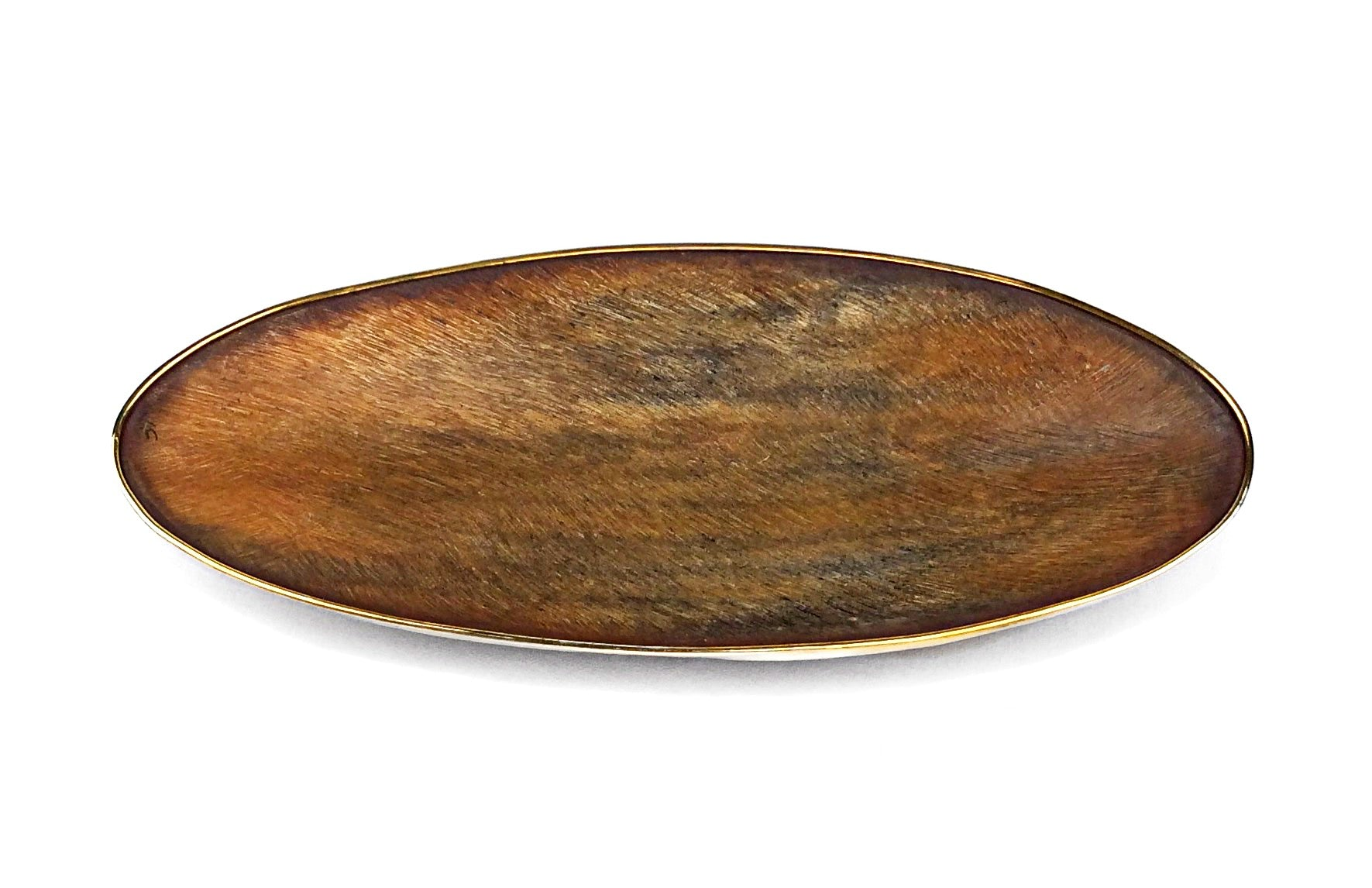 Gold-Trimmed Horn Bowl