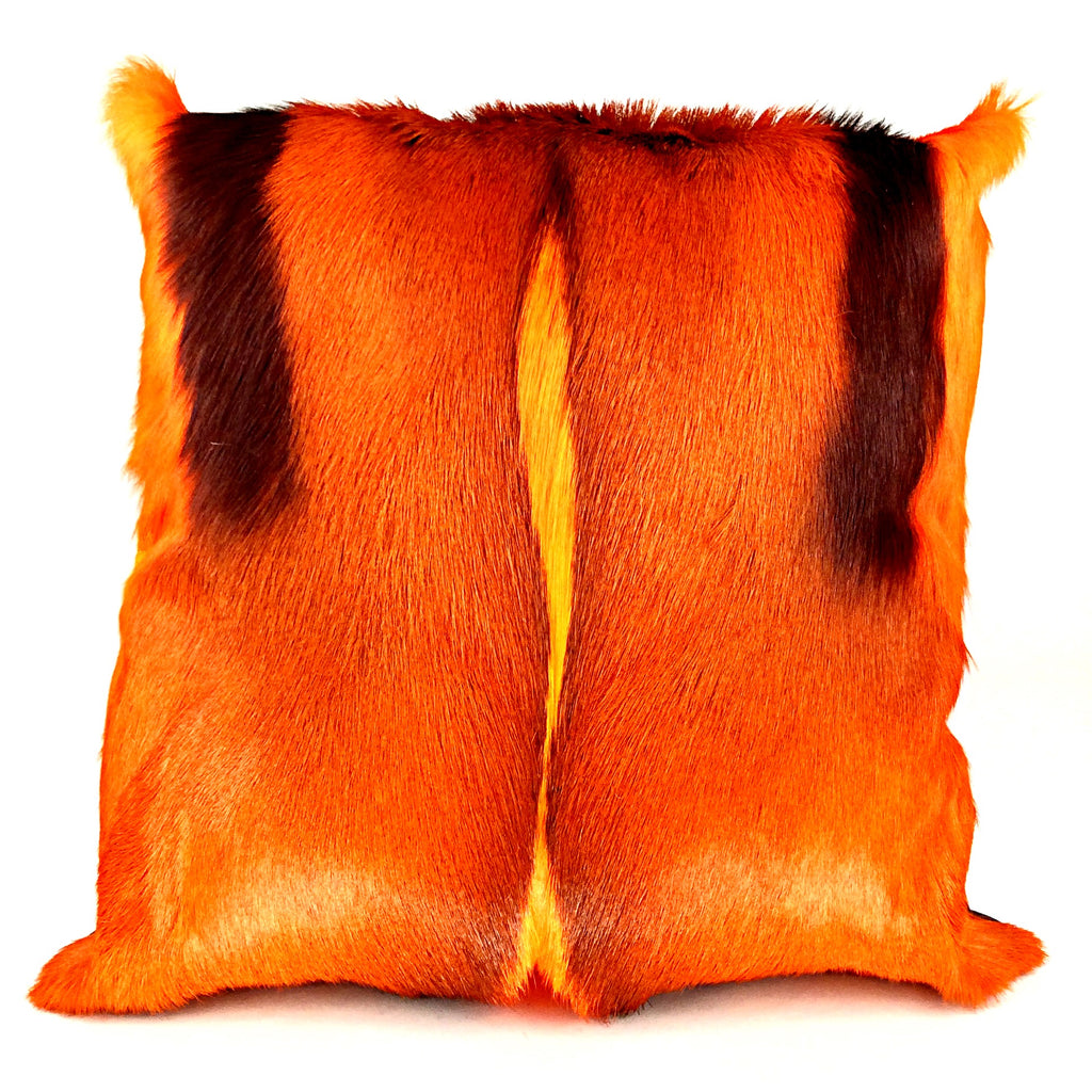 Dyed Orange Springbok Pillow