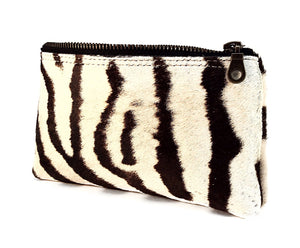 Zebra Leather Pouch