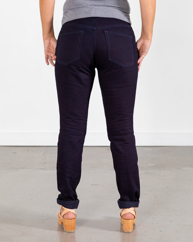 14.6 oz Raw Double Indigo Jeans