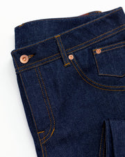14.1 oz Raw Unsanforized Custom Indigo Jeans