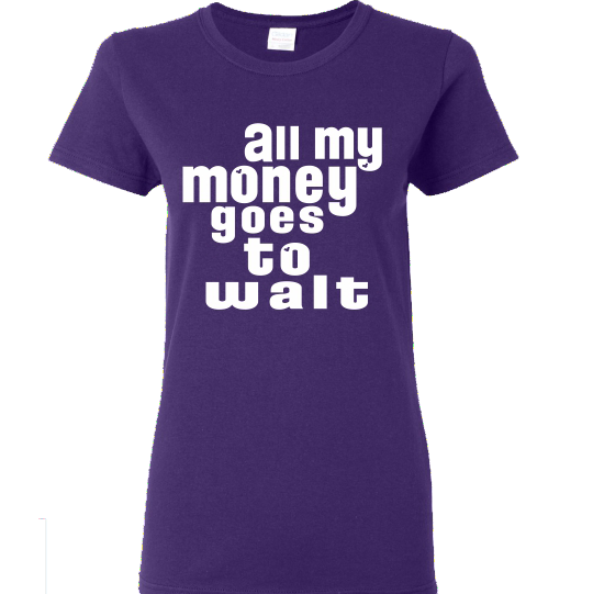 All My Money - Ladies Softstyle Purple