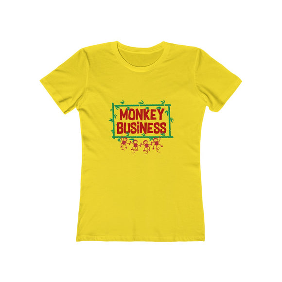 Monkey Business - Ladies Yellow Soft Tee