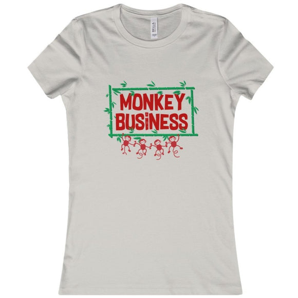 Monkey Business - Silver Ladies Soft Tee
