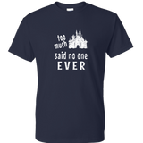 Too Much Castle - Unisex Navy Tee