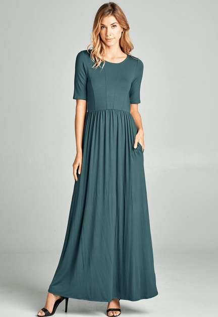 Fit and Flare Maxi Dress