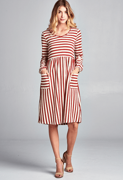 Striped Terry Dress