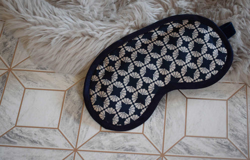 Fanfan Ivory Silk Eye Mask
