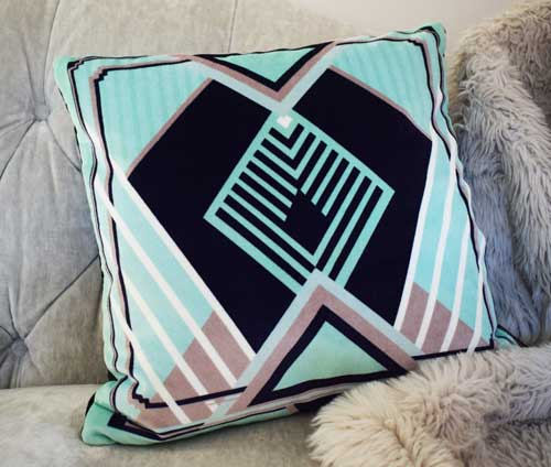 Francis Square Velvet Cushion - Mint