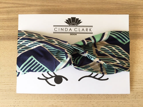Francis Mint Silk Headband