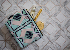 ART DECO Francis Tile Luxury Velvet Accessory Bag